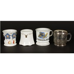 Lot of (4) Vintage Shaving Mugs