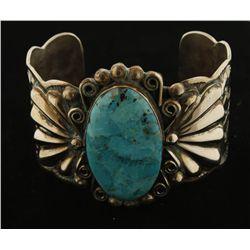 Bold Albert Cleveland Single Turquoise Cuff