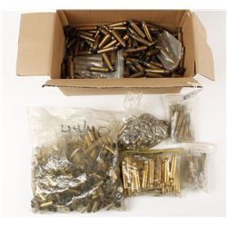 Box Lot of Brass and Bullets