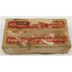 Vintage Box of .455 Colt Ammo