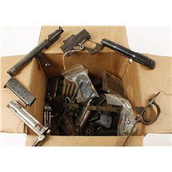 Miscellaneous Box of Military Gun Parts