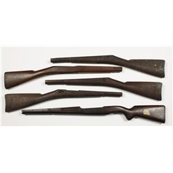 Lot of (5) Military Style Stocks