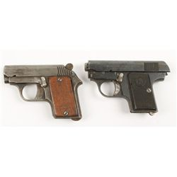 Lot of Two Looking Glass Pistols 6.35mm