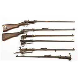 Lot of (6) Enfield Barreled Actions