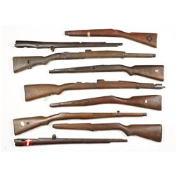 Lot of (9) Military Style Stocks