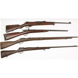 Lot of (4) Antique Military Style Rifles