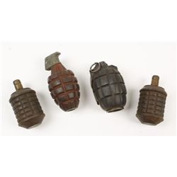 Lot of (5) Dummy Grenades