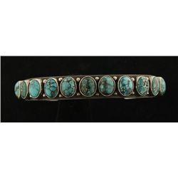 Ladies Spiderweb Turquoise Cuff Bracelet