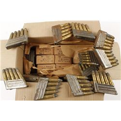 Large Box of 8mm Military Ammo in Stripper Clips