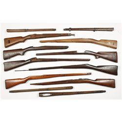 Lot of (8) Military Style Stocks and More