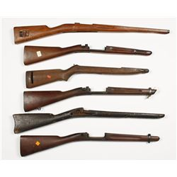 Lot of (6) Military Style Stocks