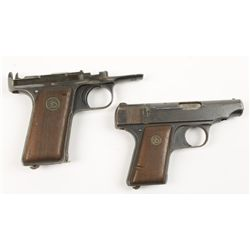 Lot of Two Incomplete pistols Ortgies