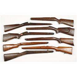 Lot of (8) Military Style Stocks