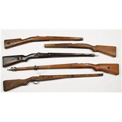 Lot of 5 Military Rifle Stocks
