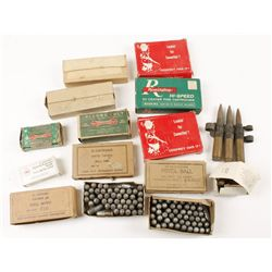 Box Lot of Misc. Ammo, Lead and Brass