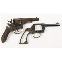 Lot of Two Revolver Frames Colt & Modello 1889