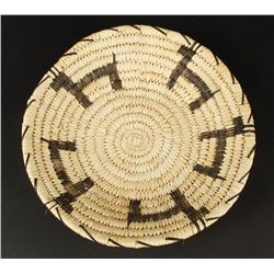 Papago Basket with 5 Figural Dogs