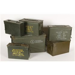 Lot of (6) Ammo Cans