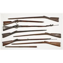Lot of (7) Military Style Stocks and More
