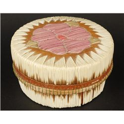 Iroquois Birch Bark & Porcupine Quill Basket