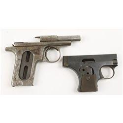 Lot of Two incomplete Semi Auto Pistols
