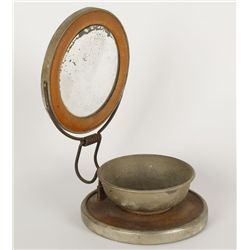 CW Cavalry Soldier Shaving Mirror and Soap Holder