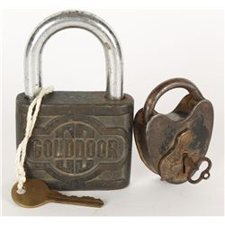 Collection of (2) Antique Padlocks