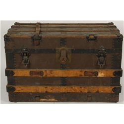 Small Brown Canvas Trunk