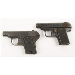 Lot of Two Melior Pistols 6.35mm