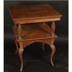 Tiger Oak Lamp Table