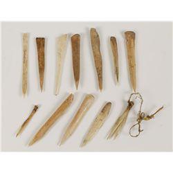 (13) Ho Ho Kam Bone Awls and Needles