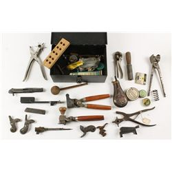 Box Lot of Reloading Tools
