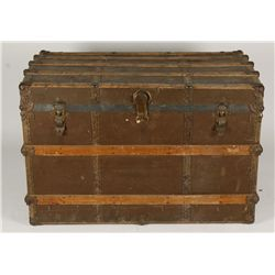 Large Brown Canvas Trunk