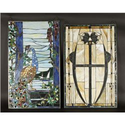 Lot of (2) Stained Glass Windows