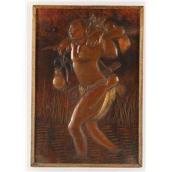 (2) Pieces of African Copper Art