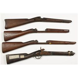 Lot of (4) Military Style Stocks