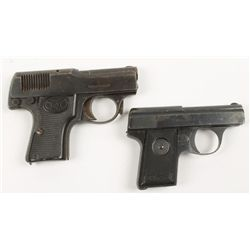 Lot of 2 Walther Pistols, Model 1/Model 9, 6.35mm
