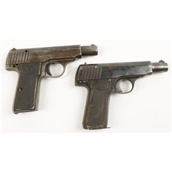 Lot of Two Walther Pistols Model 4 Cal:7.65mm