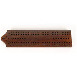 Old West Oak Cribbage Board