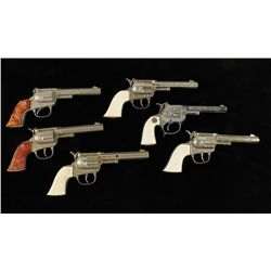 """Lot of (6) Antique Hubley """"Rodeo"""" Cap Guns"""