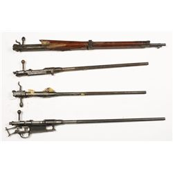 Lot of (4) Arisaka Barreled Actions