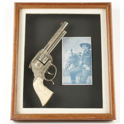Gene Autry Cap Gun In Shadow box