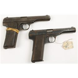 Lot of Two Browning Semi Auto Pistols 1910/22 .32A