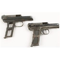 Lot of Two Mauser Pistol Frames & Slides Cal: 7.65