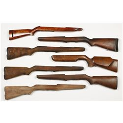 Lot of 6 Wood Rifle Stocks