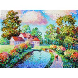 Alexander Antanenka,  Country Living,  Signed Canvas Giclee