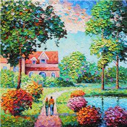 Alexander Antanenka,  Love Our Home,  Signed Canvas Giclee