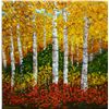 Image 1 : Wanda Kippenbrock, Falls Gold, Oil on Canvas