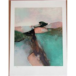 Claude Gaveau, Emerald Coast, Signed Lithograph
