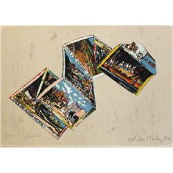 Malcolm Morley, Miami Postcard, Signed Lithograph